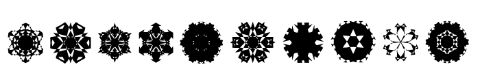 Paper Snow Flakes Font OTHER CHARS