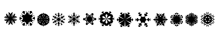 Paper Snow Flakes Font LOWERCASE