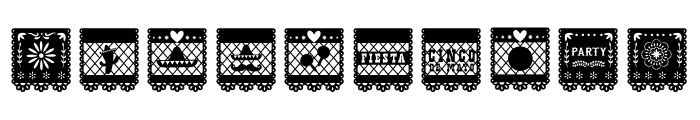 Papercut Bloks Font OTHER CHARS
