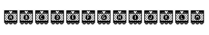Papercut Bloks Font UPPERCASE