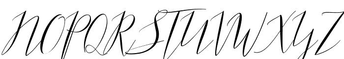 ParlinttonsScript Font UPPERCASE