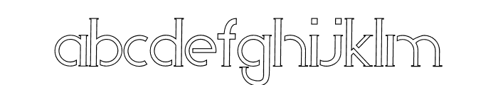 Perky Area Outline Font LOWERCASE