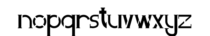 Perky Area Font LOWERCASE