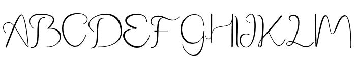 Phanthomim Font UPPERCASE