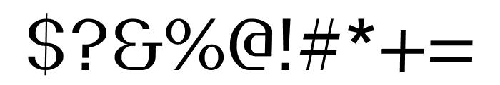 Pickup regular Font OTHER CHARS