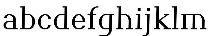 Pickup regular Font LOWERCASE