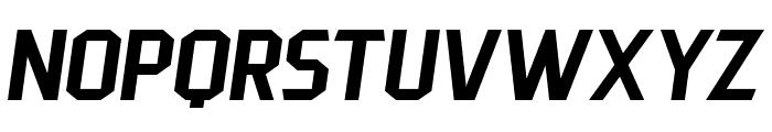 PittsbrookSans-Italic Font UPPERCASE