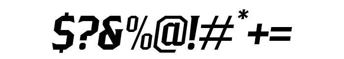 PittsbrookSerif-Italic Font OTHER CHARS