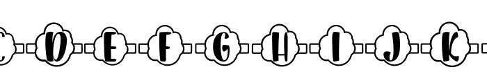 Plant Factory 13 monogram Regular Font UPPERCASE