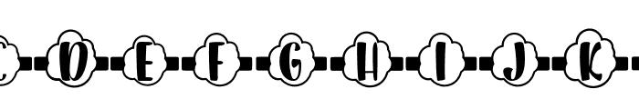 Plant Factory 15 monogram Regular Font UPPERCASE