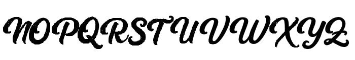 Platina Rough Font UPPERCASE
