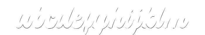 Platina Shadow Font LOWERCASE