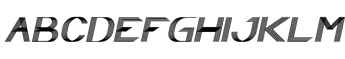 Play Ground Italic Font UPPERCASE