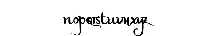 Plaza Avenue Font LOWERCASE