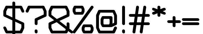 Plush regular Font OTHER CHARS