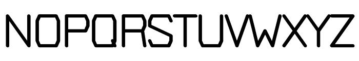 Plush regular Font UPPERCASE