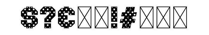 Polka Sport Stencil Font OTHER CHARS
