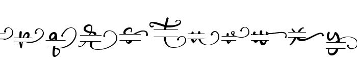 Poppy Monogram Font LOWERCASE