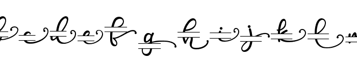 PoppyMonogram Font LOWERCASE