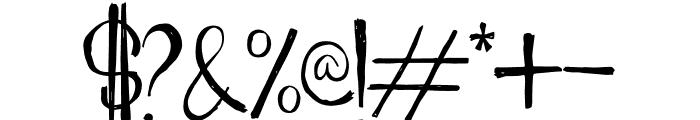 Porto Bianco Brush Font OTHER CHARS