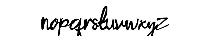 Porto Bianco Brush Font LOWERCASE