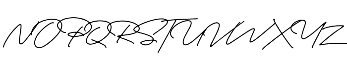 Portrait Script Regular Font UPPERCASE