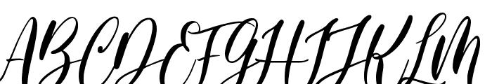 Pretty Smile Font UPPERCASE
