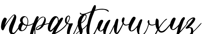 Pretty Smile Font LOWERCASE