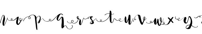 Princess Ivy Swashes Font UPPERCASE