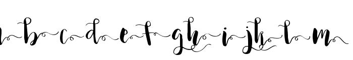 Princess Ivy Swashes Font LOWERCASE