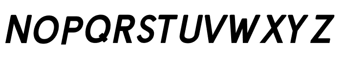 Prontera Bold Italic Font UPPERCASE