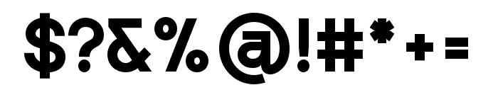 Punta-ExtraBoldFlat Font OTHER CHARS