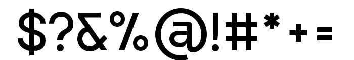 Punta-Regular Font OTHER CHARS