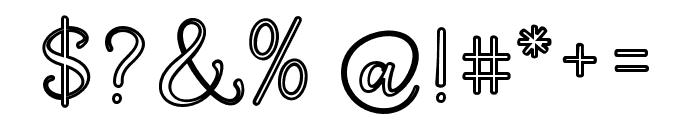 QualityCapcayBlackLine Font OTHER CHARS