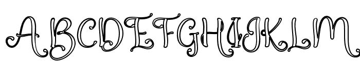QualityCapcayBlackLine Font UPPERCASE