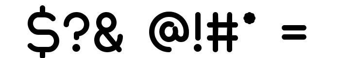Quantum Bold Font OTHER CHARS
