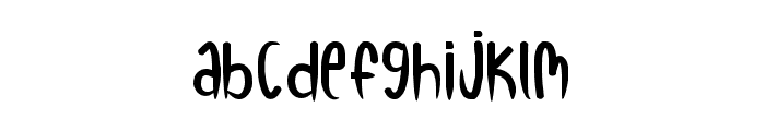 RED WATERMELON Font LOWERCASE