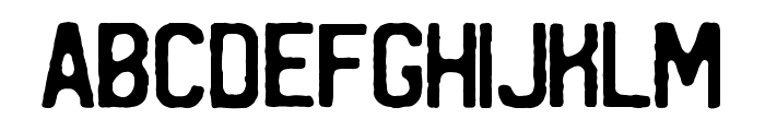 REGRESS - by Mark Richardson Font LOWERCASE