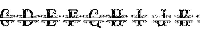 RELIC ISLAND MONOGRAM1 Font UPPERCASE