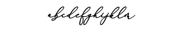 RachelaBoldItalic Font LOWERCASE