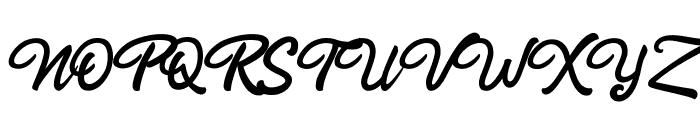 Rahayu Script Font UPPERCASE