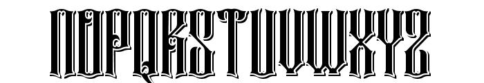 Rajawaley Drop Shadow Font UPPERCASE