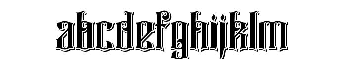 Rajawaley Drop Shadow Font LOWERCASE