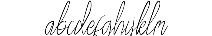 Ralph Bellagni Script Font LOWERCASE