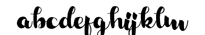 RalyndaRegular Font LOWERCASE