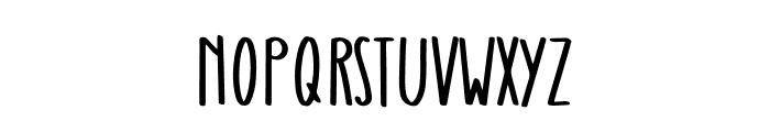Raspberry Oatmeal Font UPPERCASE