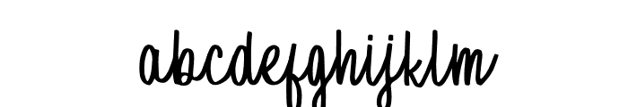 Raspberry Oatmeal Font LOWERCASE