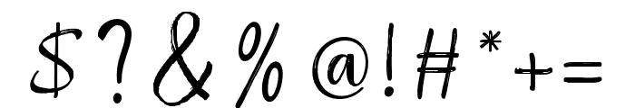 RaspberryBrush Font OTHER CHARS