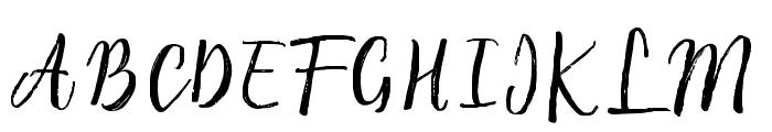 RaspberryBrush Font UPPERCASE