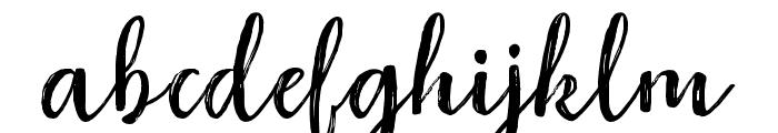 RaspberryBrush Font LOWERCASE